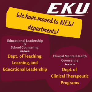 We have moved to new departments!
